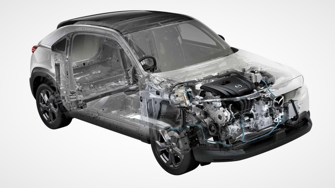 Mazda MX-30 tại Mỹ sẽ được trang bị động cơ xoay Mazda_mx_30_with_mild_hybrid_engine