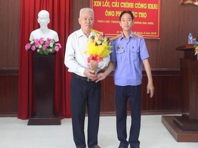 VKS xin lỗi cựu Giám đốc Nông trường dừa Vị Thanh sau 29 năm bị oan