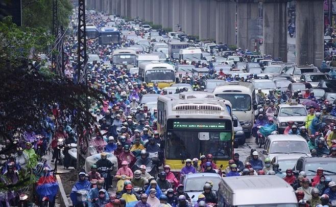 Lo trinh cam xe may vao noi do duoc chat van tai ky hop HDND Ha Noi hinh anh