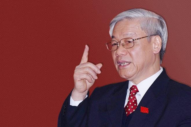 Tổng bí thư Nguyễn Phú Trọng được giới thiệu để Quốc hội bầu làm Chủ tịch  nước. Ảnh: Reuters.