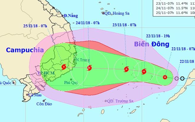 Áp thấp nhiệt đới sẽ mạnh thành bão, Nam Trung Bộ mưa lớn – Đời sống
