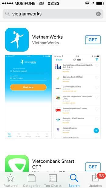 Vietnamworks ra mat ung dung tim viec tren di dong anh 1