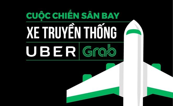 'Mieng banh' san bay trong cuoc chien taxi, Uber, Grab hinh anh