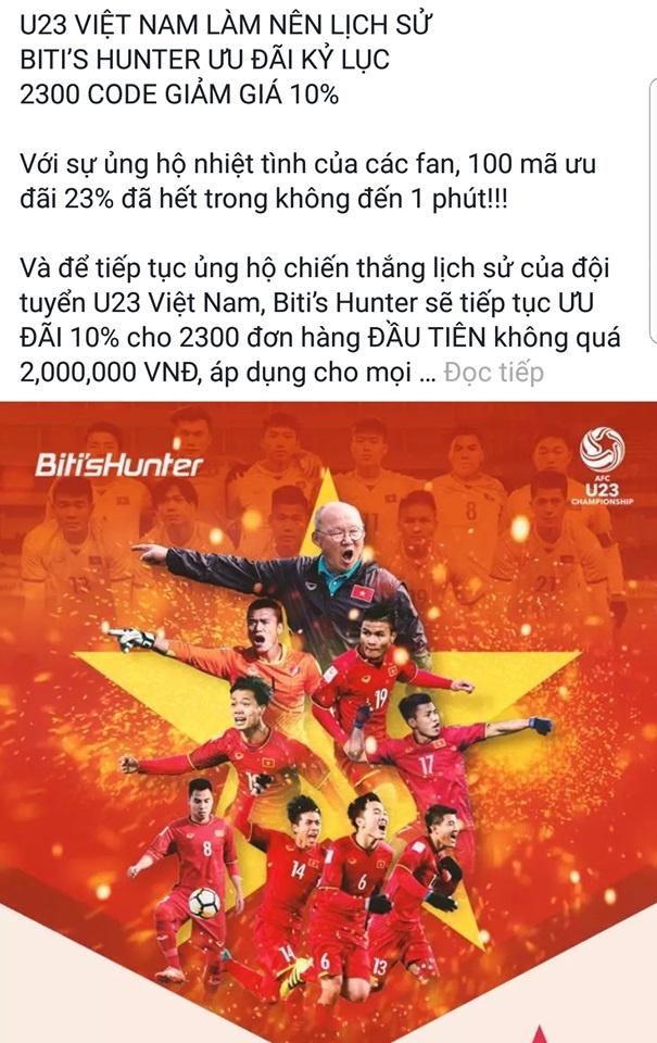 U23 Viet Nam vao chung ket, hang quan tung mua khuyen mai hinh anh 2