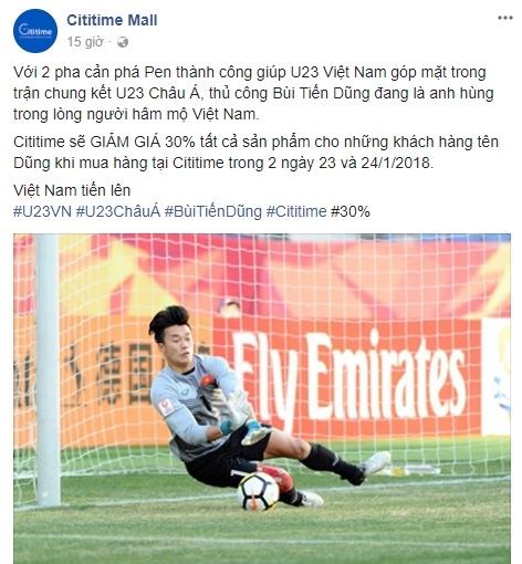 U23 Viet Nam vao chung ket, hang quan tung mua khuyen mai hinh anh 3