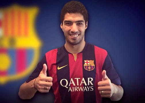 Suarez chinh thuc ve Barca voi ban hop dong ky luc hinh anh