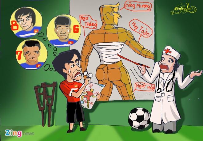 Tranh ve hanh trinh day cam xuc cua U23 Viet Nam o Singapore hinh anh 1