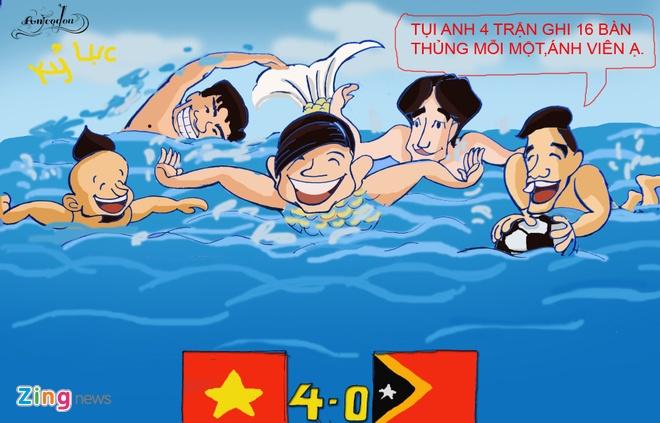 Tranh ve hanh trinh day cam xuc cua U23 Viet Nam o Singapore hinh anh 10
