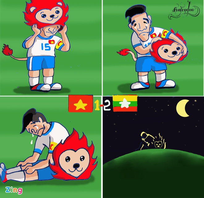 Tranh ve hanh trinh day cam xuc cua U23 Viet Nam o Singapore hinh anh 12