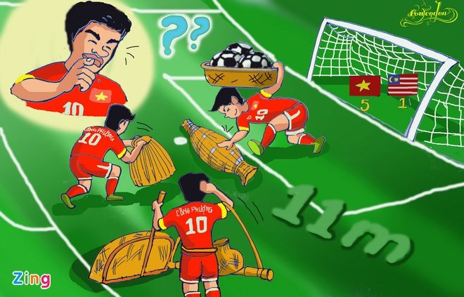 Tranh ve hanh trinh day cam xuc cua U23 Viet Nam o Singapore hinh anh 6
