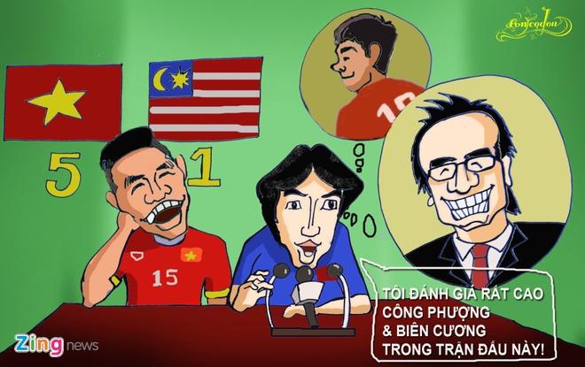 Tranh ve hanh trinh day cam xuc cua U23 Viet Nam o Singapore hinh anh 8