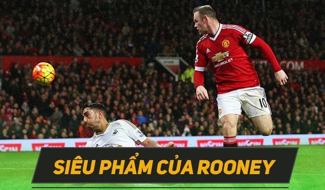 Rooney choi hay nhat tran MU thang Swansea 2-1 hinh anh