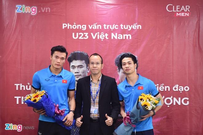 Tien Dung, Cong Phuong: 'Niem tin chua bao gio tat voi U23 Viet Nam' hinh anh 7