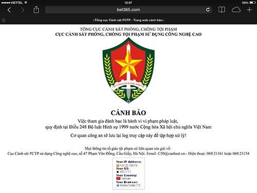 Ram ro ca do World Cup hinh anh 2 Cảnh báo của Cục Cảnh sát Phòng chống tội phạm sử dụng công nghệ cao.