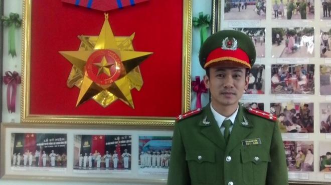 Đại úy Đàm Mạnh Tuấn.