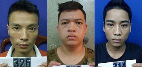 Tam giam 3 nghi can cuong doat tai san o quan bar Monaco hinh anh 1 Khanh, Ngọc và Văn (từ trái qua) tại cơ quan điều tra.