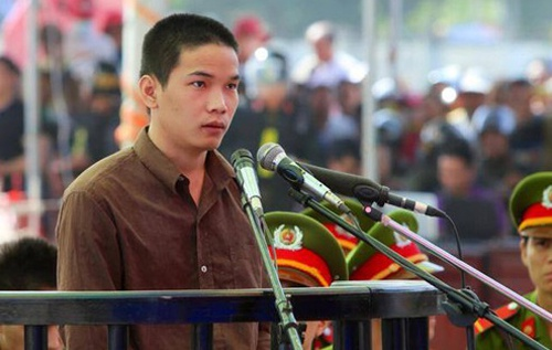 Vu Van Tien lam don xin giam doc tham hinh anh