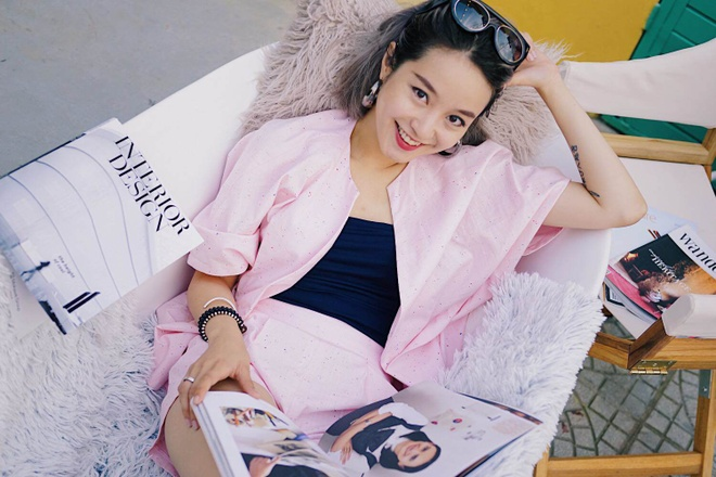 Trinh Pham va dan hot girl vua sinh em be trong nam nay hinh anh 9