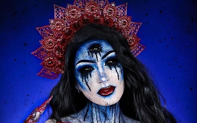 Vlogger lai Phap - Bi 'hut view' nho video hoa trang Halloween hinh anh