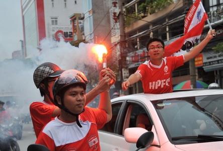 CDV Hai Phong cuong nhiet ngay khai mac giai U21 hinh anh
