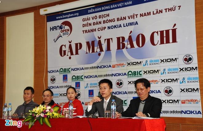 Hanoi Open - giai bong ban quy mo lon voi nhieu ky luc hinh anh 1