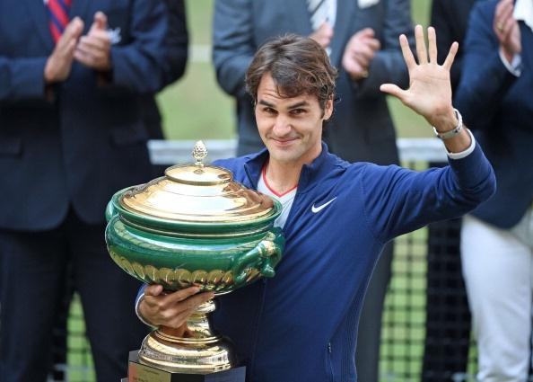 Federer lan thu 7 dang quang Gerry Weber hinh anh