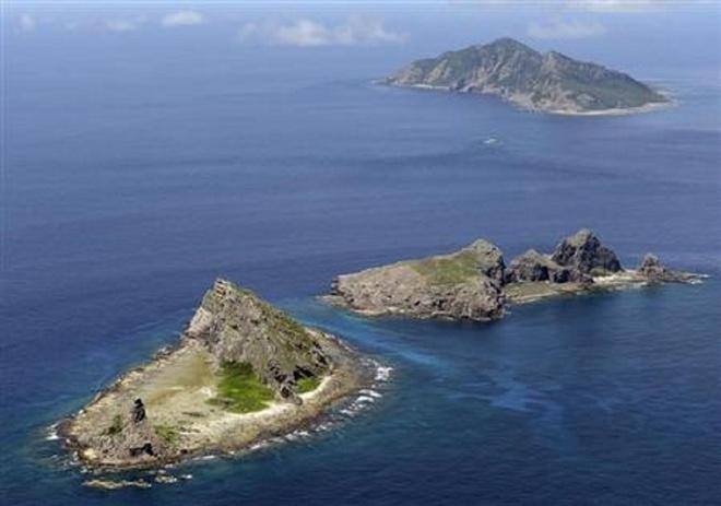 Obama tran an Nhat truoc khi cong du chau A hinh anh 1 Quần đảo Senkaku/Điếu Ngư. Ảnh: Reuters