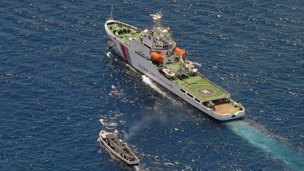 Philippines to Trung Quoc xay duong bang tren dao Gac Ma VN hinh anh 1 Căng thẳng tại Biển Đông dâng cao trong thời gian gần đây sau nhiều hành động phi pháp của Trung Quốc