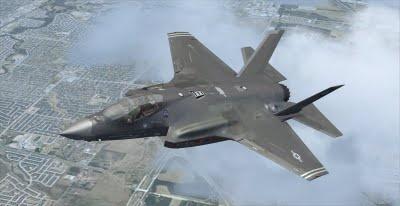 Chien dau co tang hinh My boc chay hinh anh 1 Một chiếc tiêm kích F-35A của Không quân Mỹ. Ảnh: blogspot.com