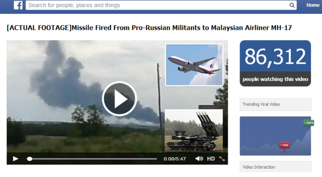 Web den truc loi cai chet cua nan nhan tham kich MH17 hinh anh 1 Một địa chỉ facebook giả mạo do những kẻ trục lợi lập ra nhằm các mục đích xấu. Ảnh: