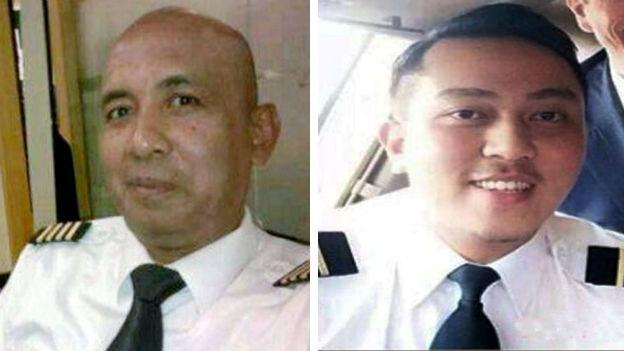 Chính quyền Malaysia tập trung điều tra cơ trưởng Zaharie Ahmad Shah (trái) và phi công phụ lái Fariq Abdul Hamid. Ảnh: BBC