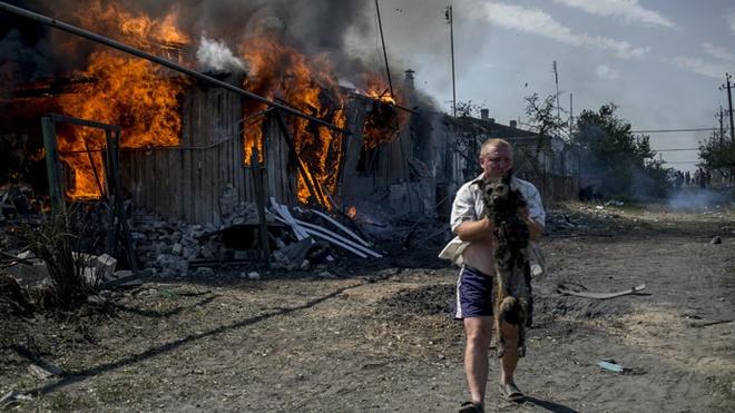 Ukraine rung chuyen vi phao kich bat chap lenh ngung ban hinh anh