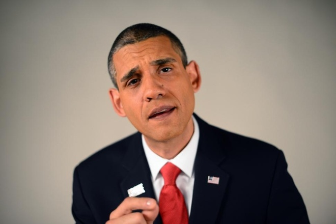 Kiem hang chuc nghin USD nho ngoai hinh giong Obama hinh anh 1 Ảnh: