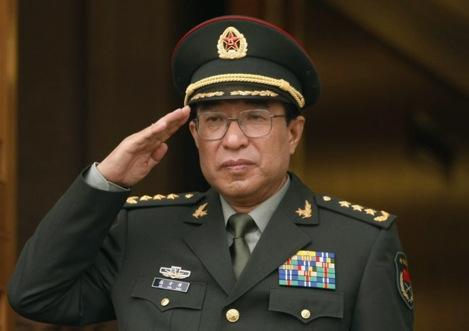 He lo gia san tuong Trung Quoc tham nhung Tu Tai Hau hinh anh 1 Tướng Từ Tài Hậu trong buổi tiếp đón tại Lầu Năm Góc ở Washington (Mỹ) ngày 27/10/2009. Ảnh: Reuters
