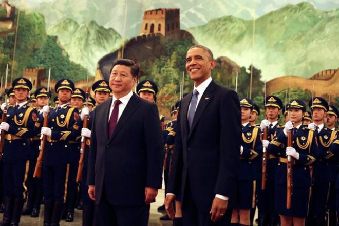 ổng thống Barack Obama và Chủ tịch Tập Cận Bình gặp nhau tại Hội nghị APEC Bắc Kinh 2014. Ảnh: NYT