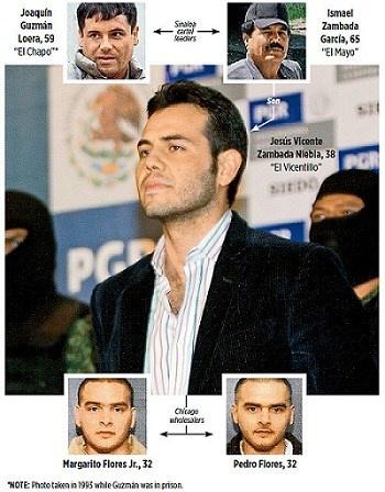 Jesus Vicente Zambada Niebla, con trai của cựu thủ lĩnh Sinaloa cartel,  Ismael Zambada García, bị bắt năm 2009