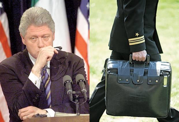 Nhung su co chan dong ve vali hat nhan cua My va Nga hinh anh 1 Tổng thống Bill Clinton từng để quên vali hạt nhân và làm mất thẻ mật mã. Ảnh: AP
