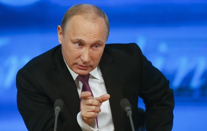 Tong thong Putin hop bao voi 1.200 phong vien hinh anh