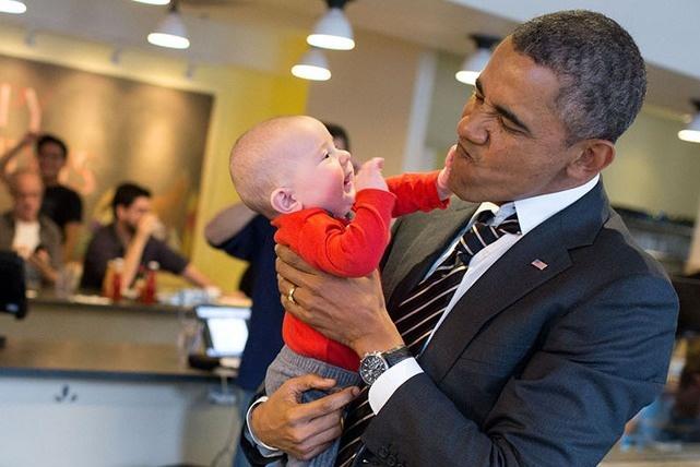 Nhung hinh anh dang nho nam 2014 cua Tong thong Obama hinh anh