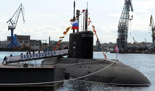 Nga tien hanh tap tran tau ngam o Bac Cuc hinh anh 1 Tàu ngầm Novorossiysk của Nga.