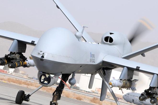 Nhung may bay khong nguoi lai uy luc nhat hanh tinh hinh anh 2 Máy bay MQ-9 Reaper của Không quân Anh. Ảnh: Wired
