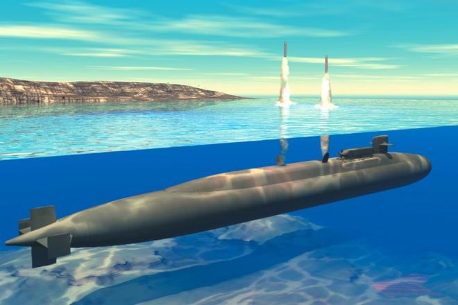 Nhung may bay khong nguoi lai uy luc nhat hanh tinh hinh anh 5 Ảnh mô phỏng việc phóng tên lửa Tomahawl từ tàu ngầm. Ảnh: Business Insider