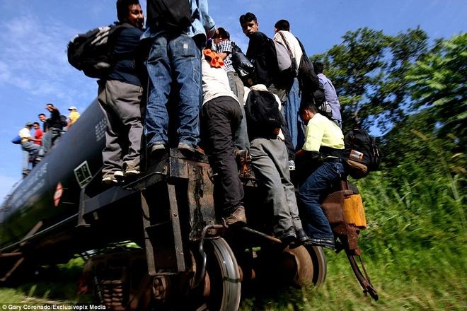 Hanh trinh tren doan tau 'tu than' dua nguoi nhap cu den My hinh anh 6 Không chỉ tàu lửa, các thanh niên bám vào mọi phương tiện có thể giúp họ đến nước Mỹ, như xe tải chở hàng, xe bồn... Tình trạng này kéo dài do chính phủ Mexico không xem việc bắt giữ những người nhập cư nghèo khó là ưu tiên hành động triệt để.