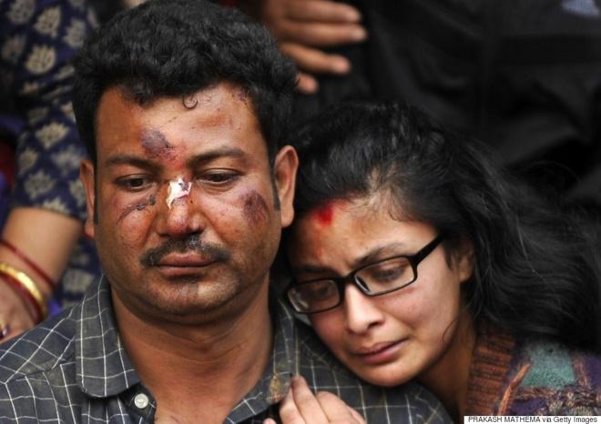 Trận động đất xảy đến với người dân Nepal quá nhanh và kinh hoàng. Ảnh: AFP