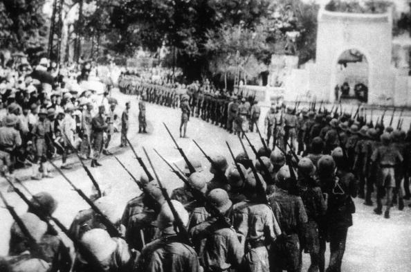 Dien Bien Phu Battle In Dien Bien Phu, Vietnam In May, 1954-Dien Bien Phu victory celebration in Hanoi.
