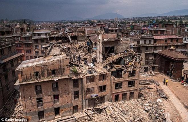 Dong dat 7,3 do Richter tai Nepal la du chan manh hinh anh