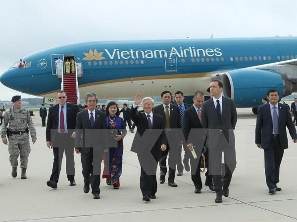 Tong Bi thu du le ban giao Boeing 787-9 Dreamliner dau tien hinh anh