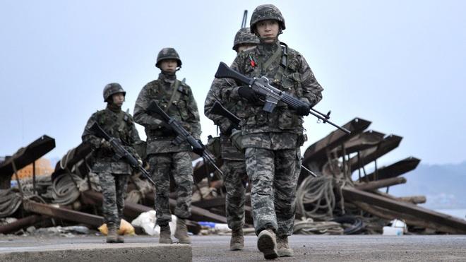 Han Quoc san sang dap tra khi thoi han toi hau thu sap het hinh anh 1 Binh sĩ Hàn Quốc. Ảnh: Telegraph