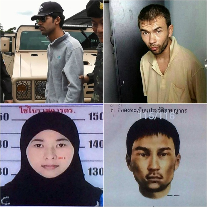 Chan dung 4 nghi pham trong vu danh bom o Bangkok hinh anh