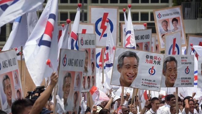 Bau cu Singapore: Thuoc thu cho dang cam quyen hinh anh